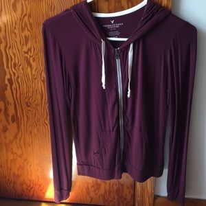 Maroon American Eagle zip-up